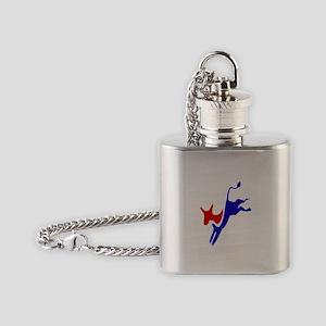 Democratic Party Donkey (Jackass) Flask Necklace