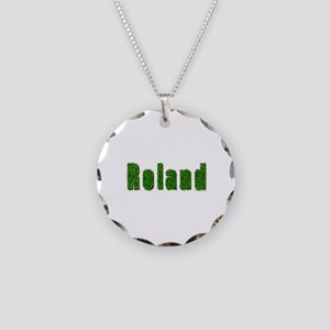 Roland Grass Necklace Circle Charm