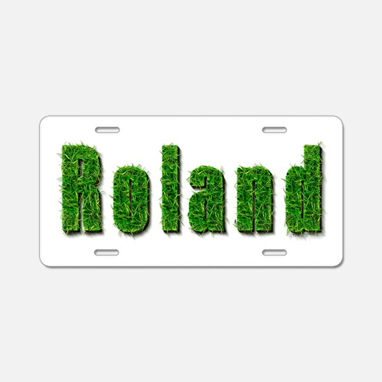 Roland Grass Aluminum License Plate