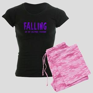 Super Power: Falling Women's Dark Pajamas