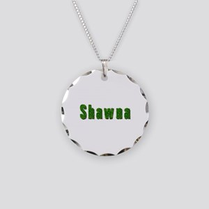 Shawna Grass Necklace Circle Charm