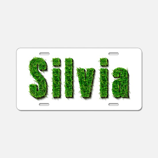 Silvia Grass Aluminum License Plate
