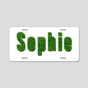 Sophie Grass Aluminum License Plate