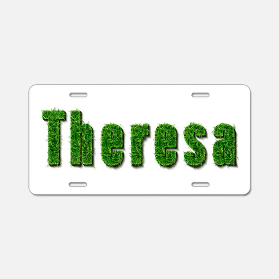 Theresa Grass Aluminum License Plate