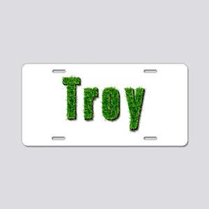 Troy Grass Aluminum License Plate