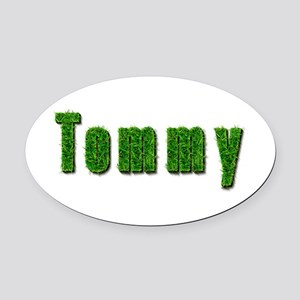 Tommy Grass Oval Car Magnet