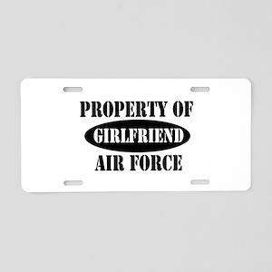 Property of AF Girlfriend Aluminum License Plate