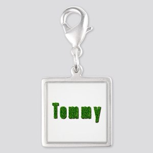 Tommy Grass Silver Square Charm