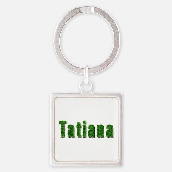 Tatiana Grass Square Keychain