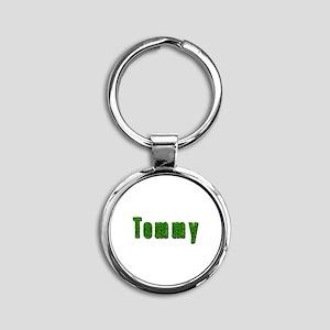 Tommy Grass Round Keychain