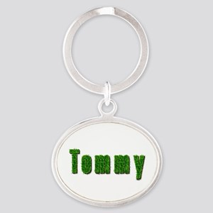 Tommy Grass Oval Keychain