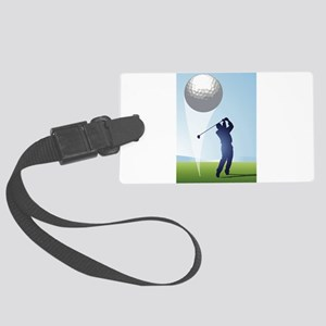 golf shoot Large Luggage Tag