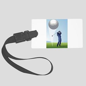 golf shoot Large Luggage Tag