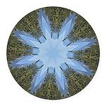 Forest Blue 8pt Round Car Magnet