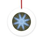 Forest Blue 8pt Ceramic Round Ornament