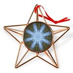 Forest Blue 8pt Copper Star Ornament