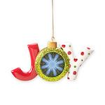 Forest Blue 8pt Joy Ornament
