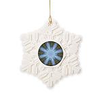 Forest Blue 8pt Snowflake Ornament