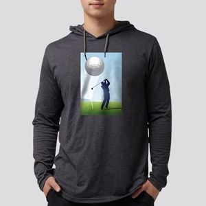 golf shoot Mens Hooded Shirt