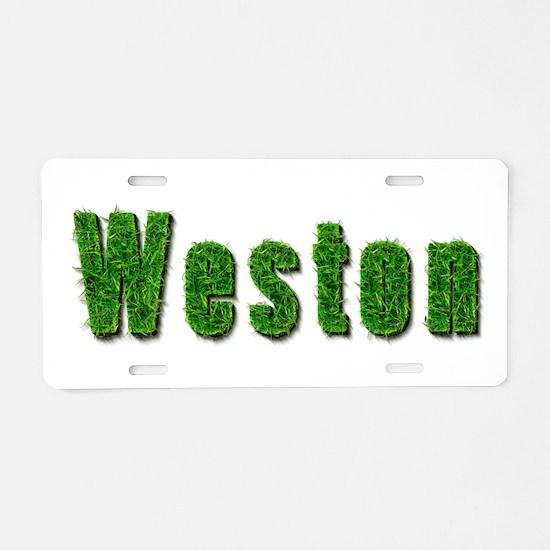 Weston Grass Aluminum License Plate