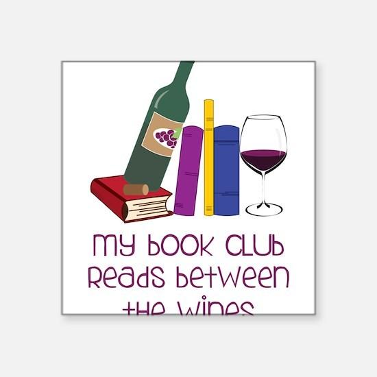 """My Book Club Square Sticker 3"""" x 3"""""""