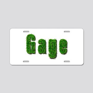 Gage Grass Aluminum License Plate