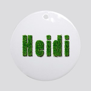 Heidi Grass Round Ornament