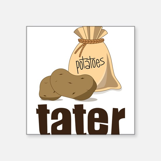 "Tater Square Sticker 3"" x 3"""