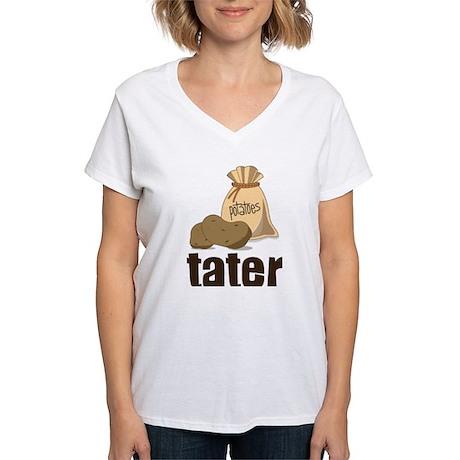 Tater Women's V-Neck T-Shirt