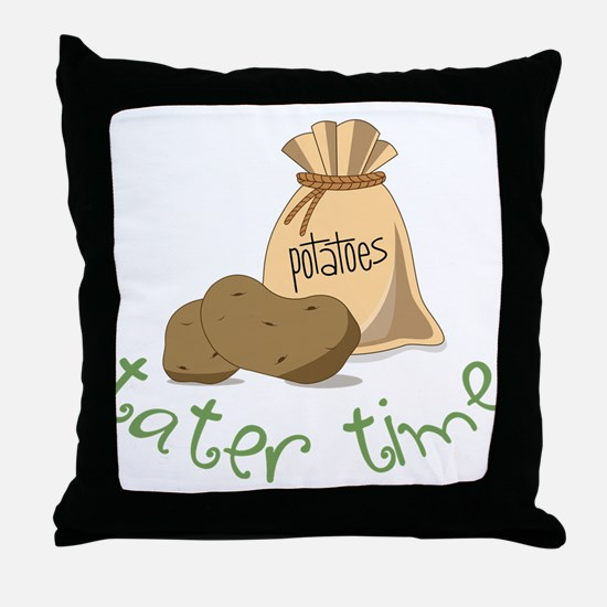Tater Time Throw Pillow