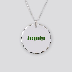Jacquelyn Grass Necklace Circle Charm