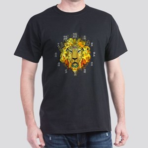 LionOfZion-Crowned, Ethio Clock Dark T-Shirt