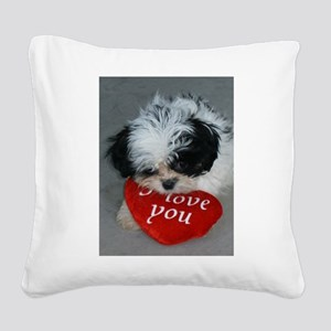 Chrissy ---I Love You Square Canvas Pillow