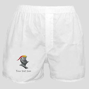 Customizable Knights Helmet Boxer Shorts