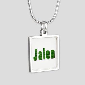 Jalen Grass Silver Square Necklace