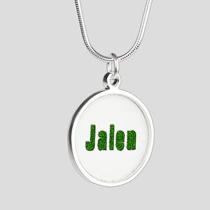 Jalen Grass Silver Round Necklace