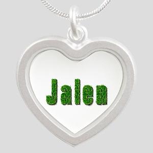 Jalen Grass Silver Heart Necklace