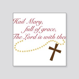 "Rosary Square Sticker 3"" x 3"""