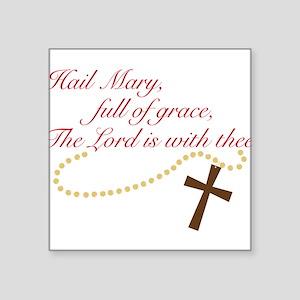 "Rosary Square Sticker 3"" x 3"""