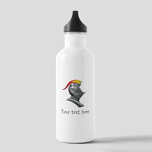 Customizable Knights Helmet Stainless Water Bottle
