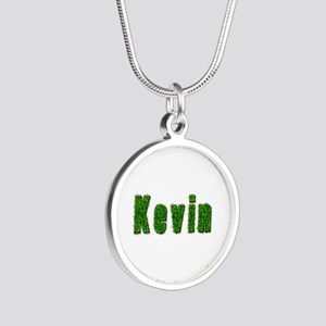 Kevin Grass Silver Round Necklace