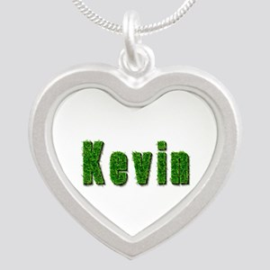 Kevin Grass Silver Heart Necklace