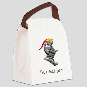 Customizable Knights Helmet Canvas Lunch Bag