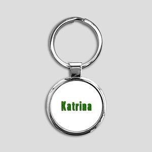 Katrina Grass Round Keychain