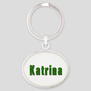 Katrina Grass Oval Keychain