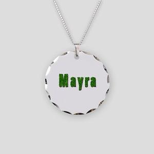 Mayra Grass Necklace Circle Charm
