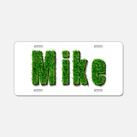 Mike Grass Aluminum License Plate