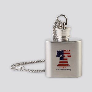 Freedom Ring Flask Necklace