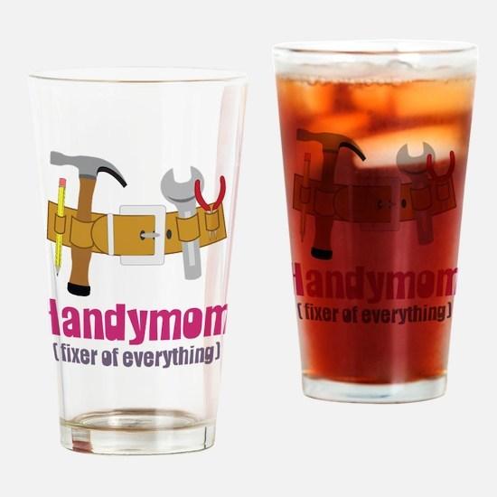 Handymom Drinking Glass