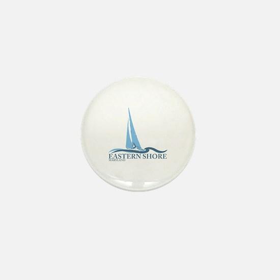 Eastern Shore MD - Sailboat Design. Mini Button
